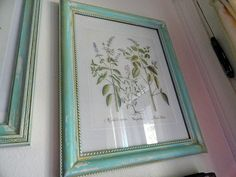 Harbortown's $5 11x14 frame purchased from Walmart is painted and distressed in Robin's Egg Blue. Looks AWESOME!