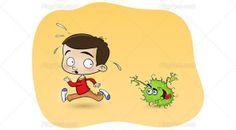 A boy flees from a virus