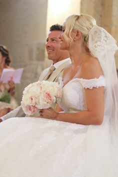 Hélène & JeanStephan   Film & Photography - @mariemarrymeinc   Wedding Gown & Shoes - @rosaclara   Wedding Planner & Designer - @HappilysEvents #amoureux#bride#mariée#groom#marié#eglise#mariage#wedding#church#french#style#dordogne#bouquet#chic#vintage #bridal #veil #noiva#mariemarryme