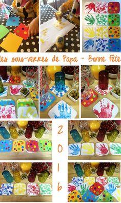 Sous-verres colorés - Fête des pères 2016 Herbs For Energy, Art For Kids, Crafts For Kids, Good Manufacturing Practice, Bunt, Fathers Day, Activities For Kids, Herbalism, Essential Oils