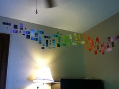 My paint chip wall:)