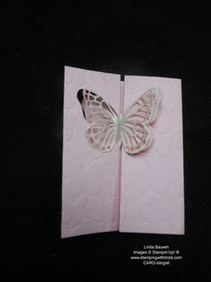You are going to Flip over this butterfly flip card. Linda Bauwin - CARD-iologist Helping you create cards from the heart.