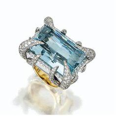 Aquamarine and Diamond Ring, Tony Duquette