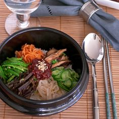 how to make authentic bibimbap, the Korean rice with mixed vegetables