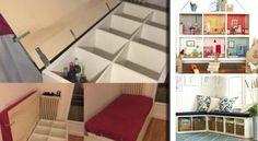 Avente presenti gliscaffali IKEA… quelli con tutti quei quadrati? Non immaginate quante cose si possono fare con questi scaffali! Oggi vi presenteremo una