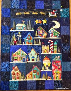 BubzRugz: Christmas Quilt. Welcome to the North Pole pattern book, Piece O' Cake Designs - Becky Goldsmith and Linda Jenkins