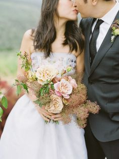 Smokebush-Inspired Summer Wedding at Carmel Valley Ranch Bright Wedding Flowers, Rustic Wedding Flowers, Floral Wedding, Wedding Bouquets, Wedding Photography Styles, Creative Wedding Photography, Tan Wedding, Wedding Ideas, Wedding Decor