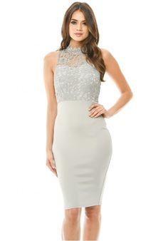 9edf3527ad8e Details about AX Paris Womens Midi Dress Bodycon Coral Pink Cut High Neck  Dress