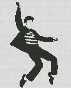 Elvis Presley cross stitch pattern by LaMariaCha on Etsy