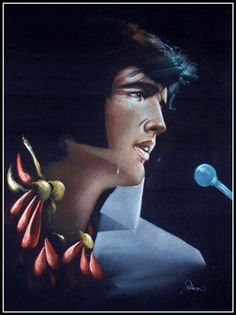 Black Velvet paintings-Elvis