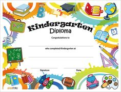 11 best certificates images kindergarten graduation 30th award