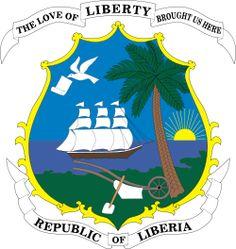 Brasão de armas da Libéria. Coat of arms of Liberia.