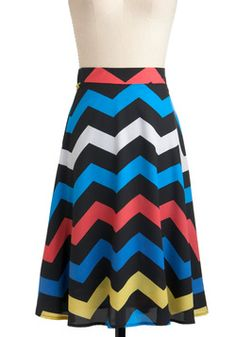 Electric Zigzag Skirt -  at modcloth.com