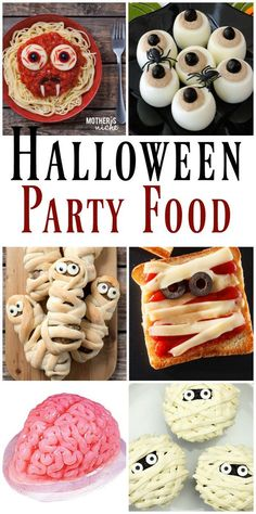 What a fun Halloween dinner tradition, PLUS SUPER easy Halloween food ideas and a funny printable menu Entree Halloween, Halloween Themed Food, Hallowen Food, Hallowen Ideas, Fete Halloween, Halloween Party Themes, Halloween Food For Party, Happy Halloween, Girl Halloween
