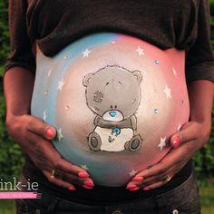 Boy or girl Bellypaint. Buikschildering.  www.schmink-ie.nl
