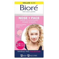 Remove blackheads and shrink the size of pores with Bioré Blackhead Reducing Deep Cleansing Pore Strip. A dermatologist-tested way to remove blackheads and purify pores. Nose Pores, Unclog Pores, Face Mask For Blackheads, Get Rid Of Blackheads, Pore Cleanser, Exfoliant, Minimize Pores, Clean Pores, Masks
