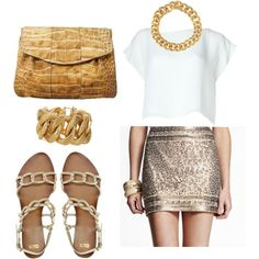gold dream, created by catchthemoment on Polyvore