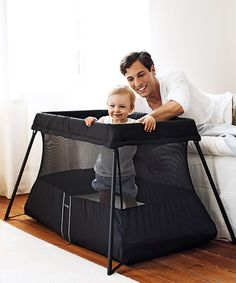 The cooler, un-ugly versions of everything always come out after I need them for my kids!  #BabyBjorn Travel Crib Light