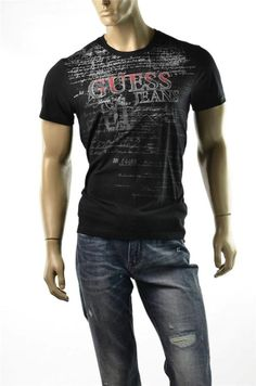 a8f63befe1f5 Guess Mens Tee Shirts S/s V Neck Fankie 81 Guess? T Shirt Top Sz L Large |  eBay