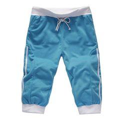 Deportes ocasionales del verano de los hombres cortos del color del encanto cortos elásticos de la cintura