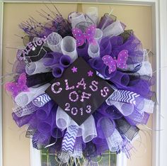 graduation deco mesh wreath
