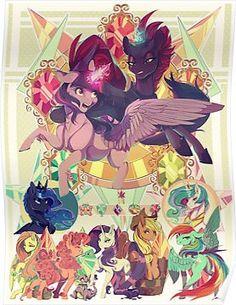 'My Little Pony Movie ' Poster by Jaykittens My Little Pony Movie, My Little Pony Cartoon, My Little Pony Drawing, My Little Pony Pictures, My Little Pony Wallpaper, 4 Wallpaper, The Ancient Magus Bride, Little Poni, Mlp Fan Art