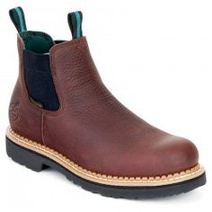 Sportsman's Guide has your Men's Georgia® Waterproof Steel Toe Romeo Boots, Brown available at a great price in our Casual Shoes collection Leather Boots, Brown Leather, Steel Toe Work Shoes, Georgia Boots, Chelsea Ankle Boots, Comfortable Boots, Pull On Boots, Men S Shoes, Shoes