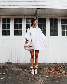 Such a pretty dress and those SHOES! ღ Stylish outfit ideas for women who love fashion! Summer Outfits, Casual Outfits, Cute Outfits, Summer Dresses, Look Fashion, Fashion Outfits, Womens Fashion, Dress Fashion, Looks Style