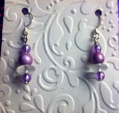Handmade lavender earrings
