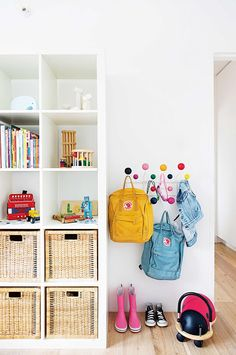 kids room + storage options