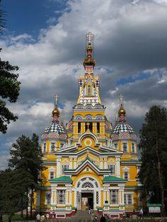 Almaty, Kazakhstan. Nikolsky Sobor, St Nicholas Cathedral.
