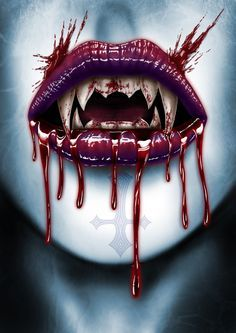 Vampire Art by Andrew Dobell @ deviantart Vampire Love, Female Vampire, Vampire Art, Arte Horror, Horror Art, Estilo Dark, Vampire Pictures, Gothic Fantasy Art, Monsters