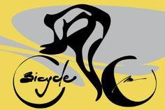 "Saatchi Art Artist Pavel Sluzky; Printmaking, ""Bicycle"" #art"