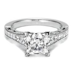My ring that I have now and I love it!!!Tacori Princess Cut Engagement Ring