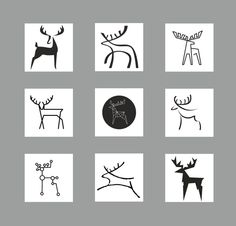 DEER stylization by Agnė Žiūkaitė, via Behance
