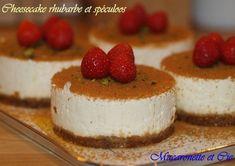 Cheesecake rhubarbe et spéculoos (sans cuisson)
