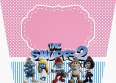 Smurfs: Free Printable Candy Bar Labels, for Girls Party. Candy Bar Labels, Free Printables, Frame, Party, Template, Birthday Cakes, Decorations, Girls, Popcorn Bucket