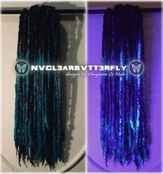 """Nebula"" #wooldreads #handmade #cheyennelehale #nebula #nubulahair #nebuladreads #glitterdreads #feltedbraids #braids #galaxyhair #darkgalaxy #galaxydreads #nvcl3arbvtt3rfly #festivalglitter #festivaldreads #curlydreads #wavydreads Wool Dreads, Dreadlocks, Dread Braids, Dark Galaxy, Galaxy Hair, Synthetic Hair Extensions, Wool Blend, Curly, Trending Outfits"