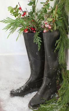 holiday boot decor