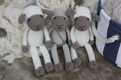Amigurumi Sheep Pattern - Crochet PDF Tutorial Name: Lexie Lamb + Bonus: boy version with little pants and braces. In English! US crochet terms  Amigurumi Sheep Pattern comes with step- by- step photos!   SIZE: with 2,5mm (3mm) crochet hook: Approx. 25 cm/10 inc YARN: Austermann Alpaca Silk, Worsted / 10 ply (9 wpi), 80% camelid alpaca, 20 % silk, 1 ball white, 1 ball brown. Other possible choices I have used: Bio - Baumwolle, G-B Wolle, Sport / 5 ply (12 wpi) organic cotton Pure Merino…