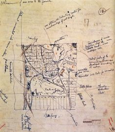 Frank Lloyd Wright, croquis, Broadacre City Plan, 1934-35 - ©The Frank Lloyd Wright Foundation, Scottsdale, AZ