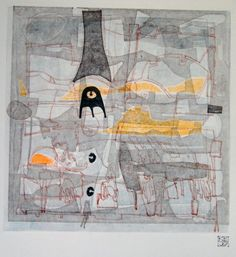 Fine Art Layered Monoprint  LookingGlass6 by kbmatter on Etsy, $225.00