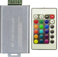 Controllerul RGB 12A si telecomanda cu 24 de canale este solutia confortabila de a gestiona jocul de lumini a 10 metri banda LED cu 60 SMD-uri 5050. Telecomanda aduce plus confort in utilizare. Led, Music Instruments, Bands, Musical Instruments