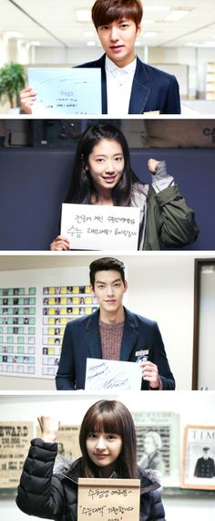 "Hwaiting! message to exam students from heritors ♡ #Kdrama - ""HEIRS"" / ""THE INHERITORS"""