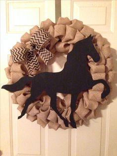 Gaited horse wreath www.facebook.com/craftpastmidnight