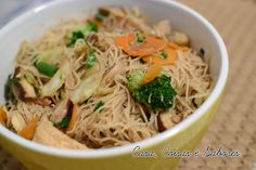 Casa, Coisas e Sabores: Yakisoba de bifum (macarrão de arroz)-Amo!