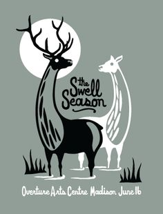 The Swell Season gig poster by Furturtle Printworks