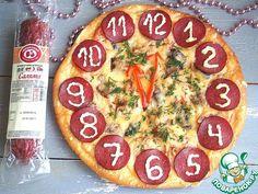 """Пицца """"Часы"""" - кулинарный рецепт"""