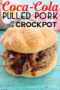 It doesn't get much simpler than this Crockpot Coca-Cola Pulled Pork. It uses 4 common spices, a bottle of barbecue sauce and one can of Coke. Delicious!