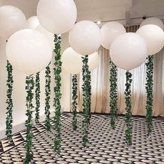 12 PACK / 36 inch Big Giant Jumbo White Balloons with Vines / Greenery / Garland - Perfect for Minimalist Rustic Weddings Celebrations! 12 PACK / 36 inch Big Giant Jumbo White Balloons with Jumbo Balloons, White Balloons, Big Balloons, Hanging Balloons, Baby Shower Themes, Baby Boy Shower, Shower Ideas, Bridal Shower Decorations, Wedding Decorations